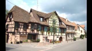 Châtenois, située au pied du Hahnenberg en Alsace