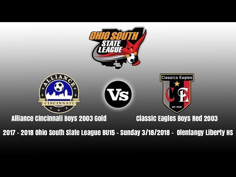 2017 - 2018 OSSL BU15 | Alliance Cincinnati B03 Gold Vs Classics Eagles Red 03