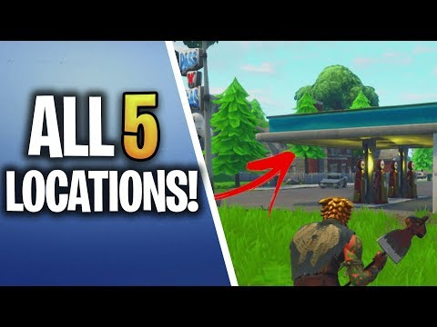 Visit Different GAS STATIONS In A Single Match - 5 GAS STATION LOCATIONS In Fortnite Battle Royale