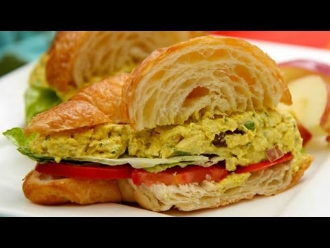 Curried Chicken Salad Sandwiches - Springtime Picnic Recipe
