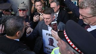 Protests erupt as former EDL leader Tommy Robinson appears for fresh contempt of court case