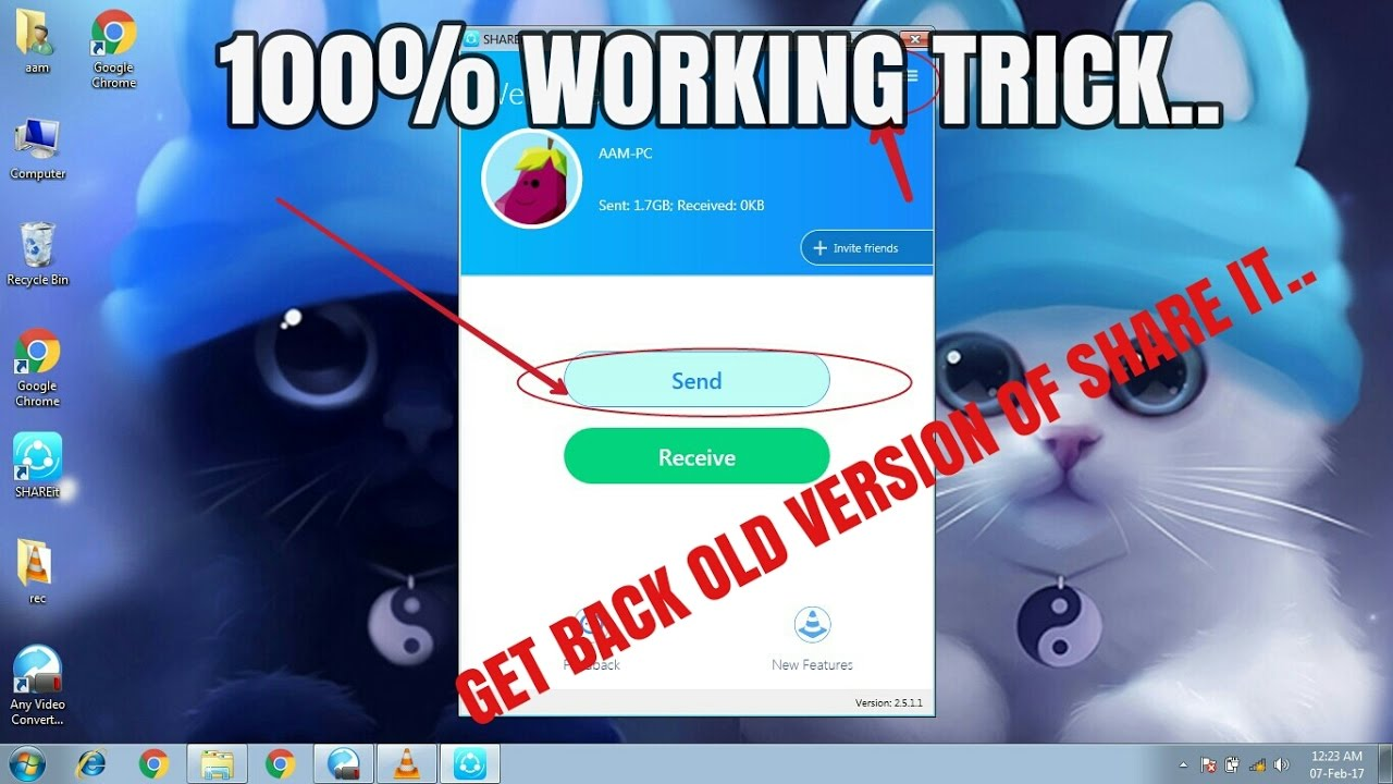 How to use Shareit on Pc ( Version 2 0) || 100% working trick