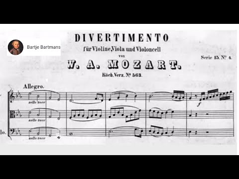 Mozart  - Divertimento for String Trio K. 563 (1788)