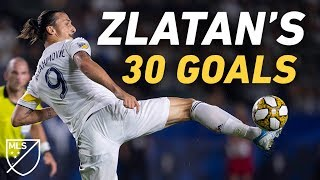 Zlatan Ibrahimovic Conquered MLS with 30 GOALS in 2019 ALL GOALS
