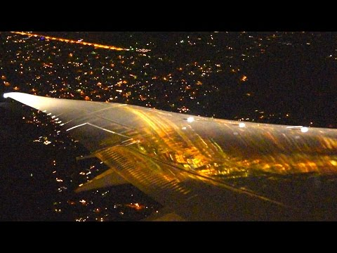 American 787 Spectacular Views At Night!