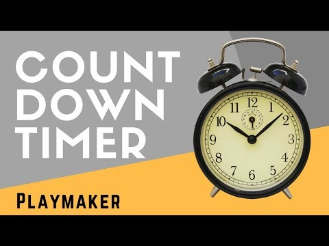 Playmaker Basics: Count Down Timer with On/ Off Trigger