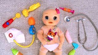 Вызываем На Дом Врача Оля Заболела Мультики Как Мама Играет в Куклы Беби Бон Сюрпризы 108мама тв