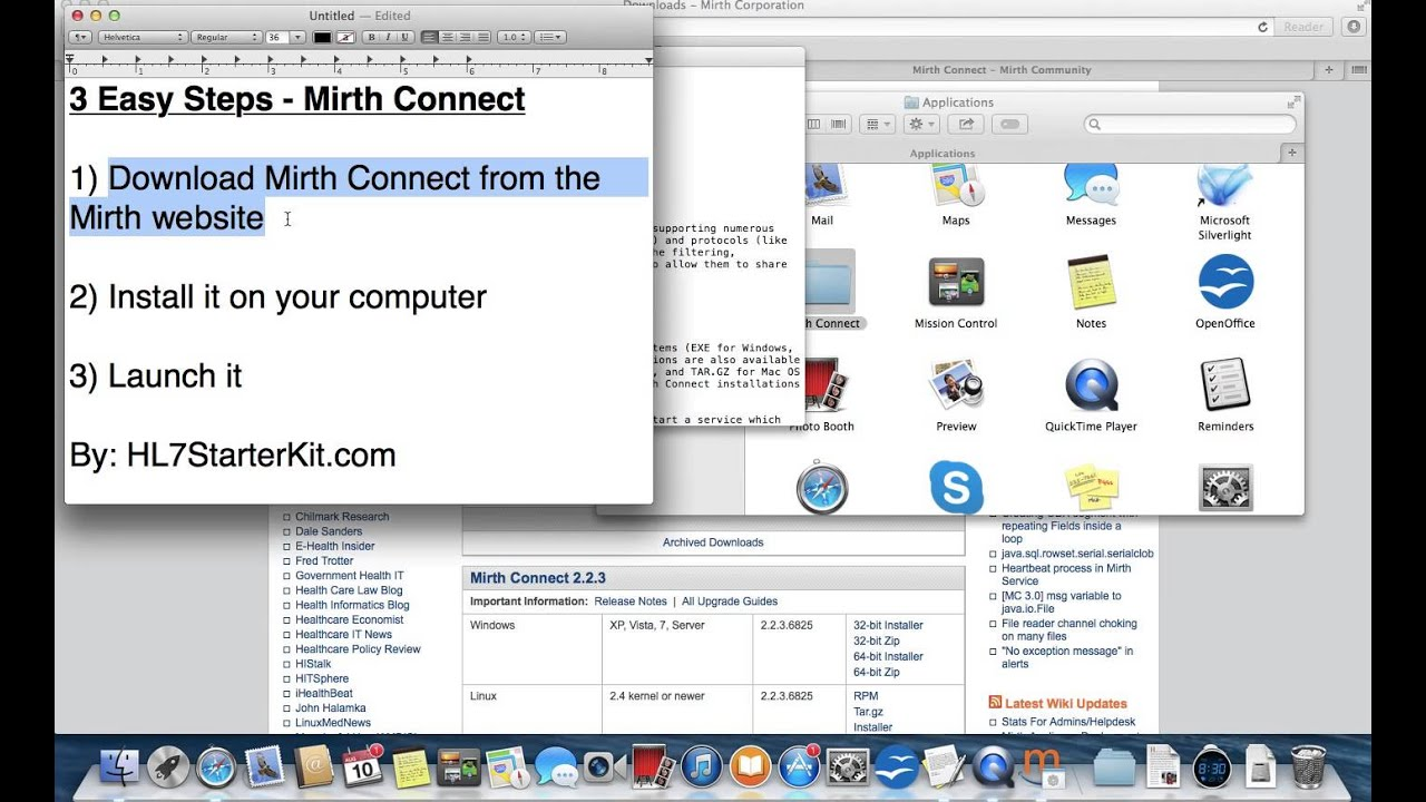 Install Mirth Connect On A Mac - HL7StarterKit com