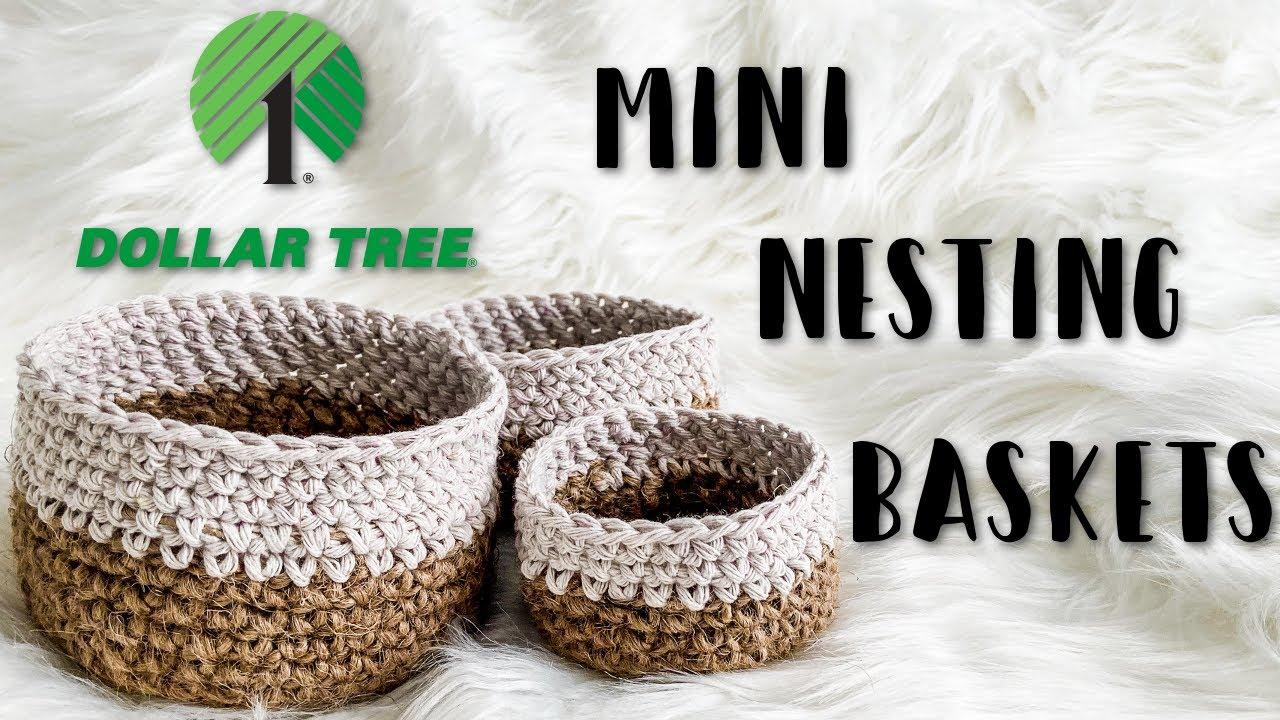 farmhouse Crochet nesting bowls crochet baskets neutral home decor