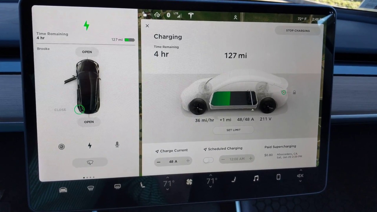 Model 3 Charging At Maximum 48a From A Destination Charger