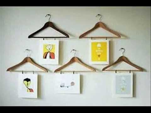 Reciclaje con perchas en desuso manualidades faciles youtube for Perchas con ganchos