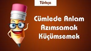 LGS Türkçe Cümlede Anlam- Kavramlar-Azımsamak-Küçümsemek, Kanımsamak, Yadsıma,
