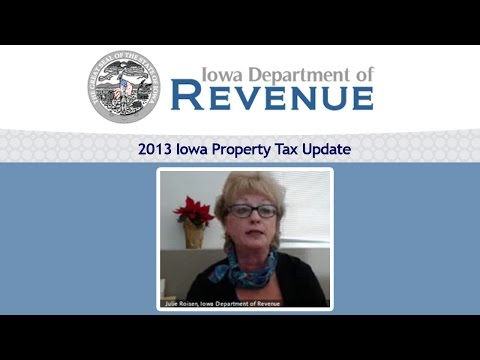 2013 Iowa Property Tax Update with Julie Roisen (webinar)