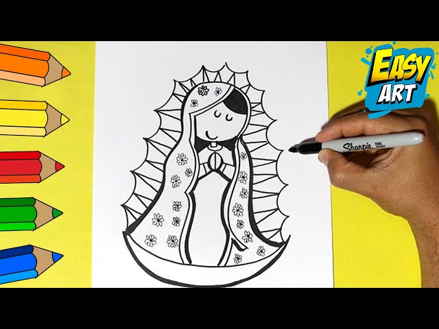 Como Dibujar La Virgen De Guadalupe How To Draw A Virgin Of