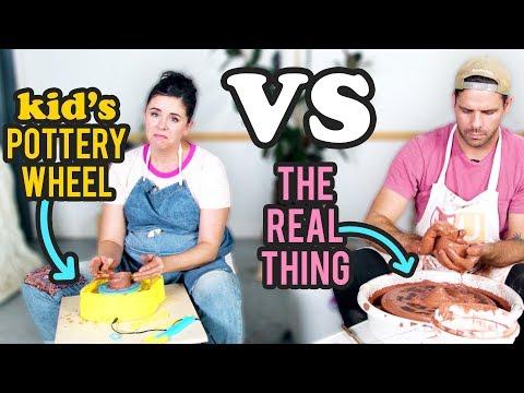 Kid's Pottery Wheel vs The Real Thing - 10 Minute DIY Challenge - HGTV Handmade