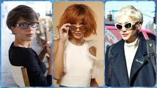 Top 20 modne krotkie fryzury damskie do okularow