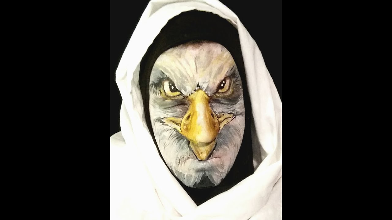 Bald eagle transformation face painthalloweencosplay tutorial bald eagle transformation face painthalloweencosplay tutorial solutioingenieria Image collections