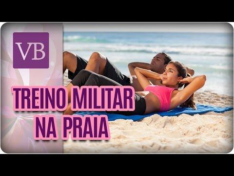 Treino Militar Na Praia - Você Bonita (30/03/17)