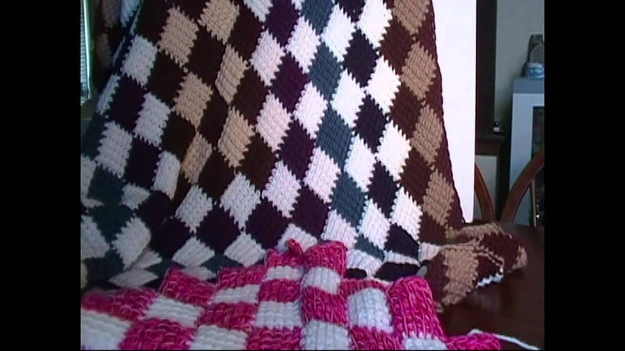 Crochet Afghan Patterns Youtube : Entrelac Crochet Blanket Introduction - YouTube