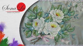 Fronha com tema de Rosas Brancas – Parte1