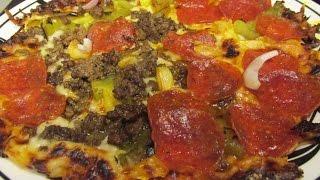 Bar Style Pizza recipe - Ultra Fast & Crispy Tortilla Pizzas