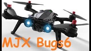 Квадрокоптер MJX Bugs 6 | Распаковка и облёт | MikeRC 2017 FHD