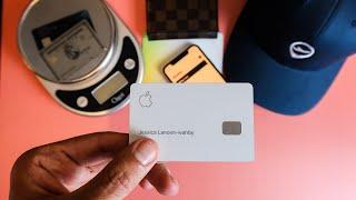 Apple Card Unboxing - Heavy Titanium (DONT GET IT)