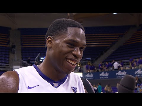 Men's Basketball: Noah Dickerson breaks down his career night in Washington's win over Eastern...