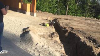 Kid face plants after failed jump attempt
