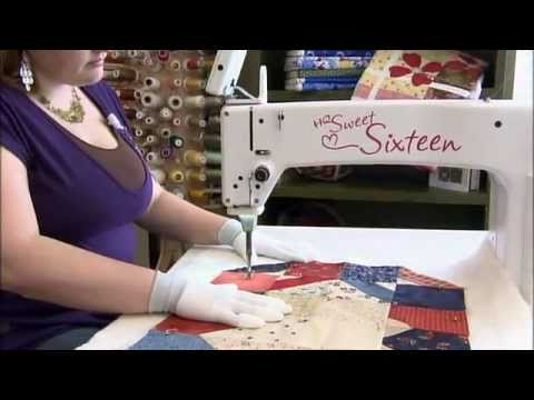 HQ Sweet Sixteen - YouTube : mid arm quilting - Adamdwight.com