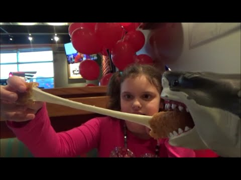 "Thumbnail: Feeding Pet Shark Red Robin ""Sharky & Victoria Toy Freaks"" Mega Sharks"