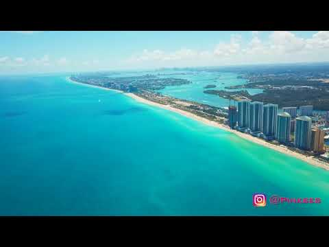 Sunny Isle Beach Florida Drone 4k Epic AMAZING Beautiful View Clear Blue Water