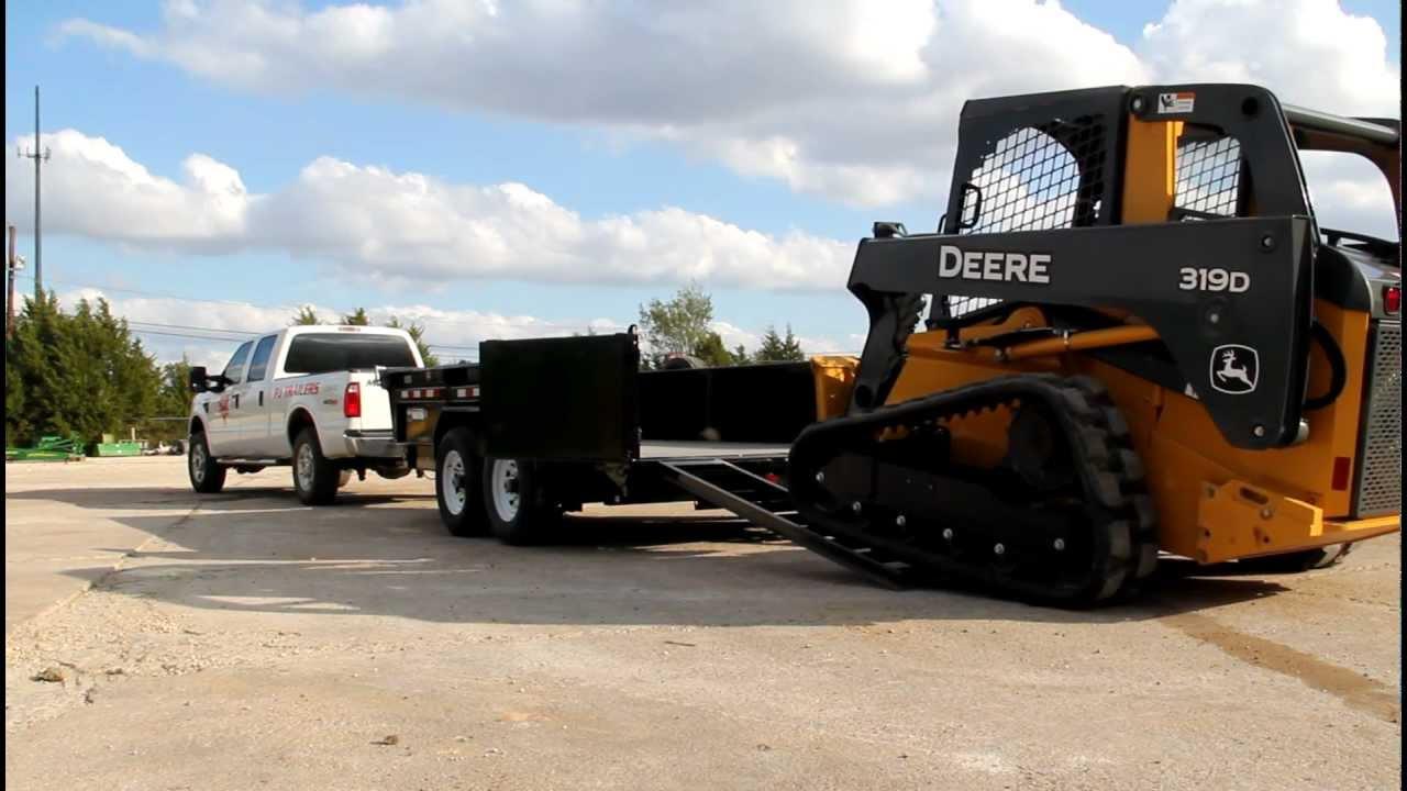 Loading A Skid Steer In A Pj 83 Quot Low Pro Dump Trailer