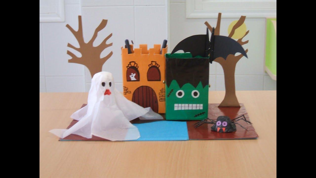 Ideas creativas manualidades para halloween youtube - Ideas para manualidades ...