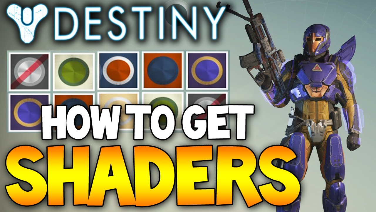 Destiny best way to unlock rare shaders character skins camo