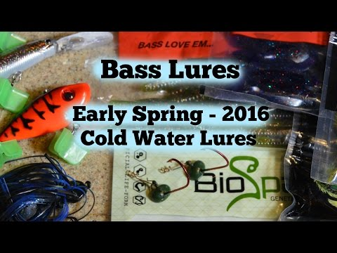 Bass Lures - Early Spring Cold Water Lures - 2016
