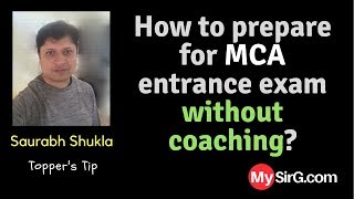How to prepare for MCA entrance exam without coaching? | LIVE  (in Hindi)