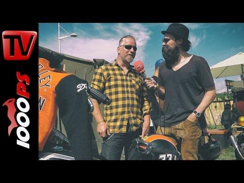 3600 km auf Harley mit Apehanger: Robert am Wheels & Waves 2016