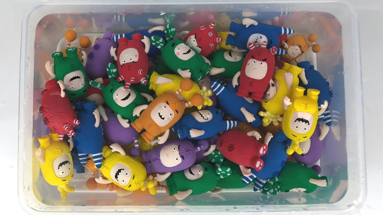 Learn Colors With Oddbods Toys And Water Toy Pool Youtube