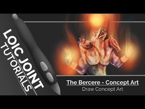 [Tutorial 2D/Krita] The Bercere – Concept Art (grayscale)