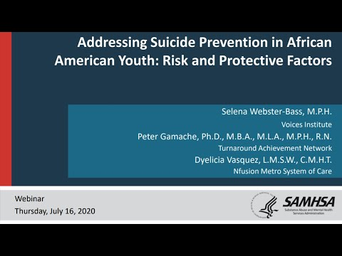 Addressing Suicide Prevention In African American Youth: Risk And Protective Factors