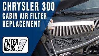 cabin air filter replacement chrysler 300