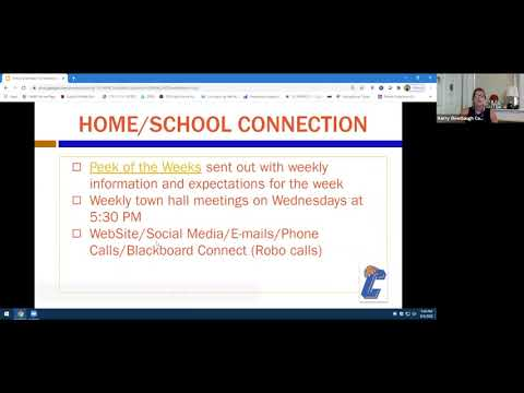 Catskill Middle School Virtual Town Hall Meeting Back to School Orientation for Parents