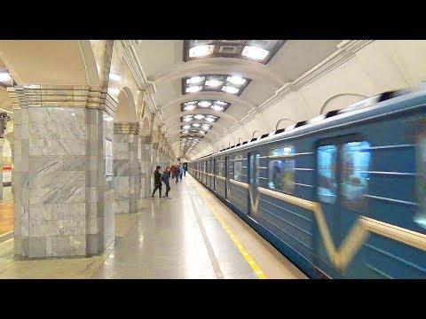 Подземный день Красная и Синяя ветки Петербургского метрополитена Все станции снизу