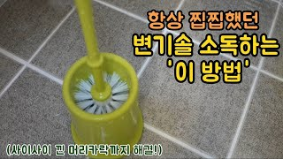 변기청소하고 찝찝했던 변기솔 세척방법 :: Toilet bowl brush Cleaning