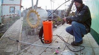 видео Опрыскиватель садовый аккумуляторный. Опрыскиватель электрический в интернет магазине Город Инструмента.