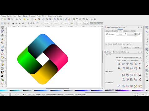 INKSCAPE 51 - Como hacer un logotipo con sombras, degradados e intersección de formas.
