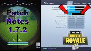 FORTNITE PATCH UPDATE 1.7.2 | BATTLE ROYALE PATCH NOTES!