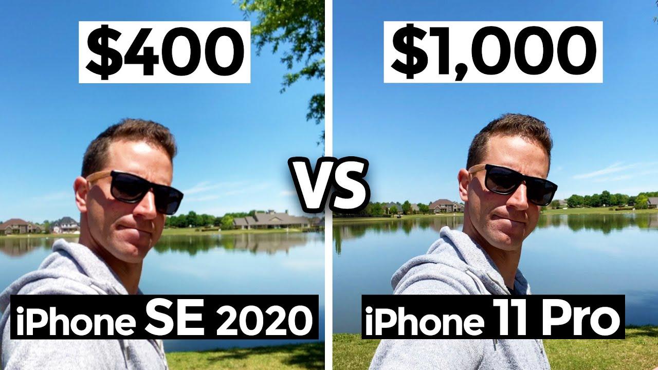 $400 iPhone SE 2020 vs $1000 iPhone 11 Pro: Camera Test Comparison!
