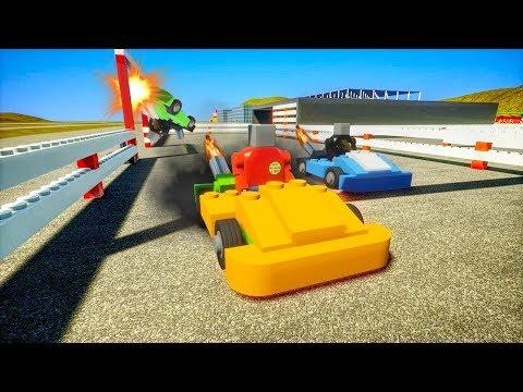 Lego RACE CARS and NASCAR Crashes! - Brick Rigs Gameplay - Lego NASCAR Crashes and Lego Roleplay!